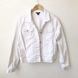 Joe Fresh White Denim Jacket Size XL